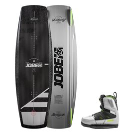 Jobe Breach Wakeboard 135 & Nitro Set grau