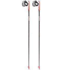 Leki Flash Carbon Nordic Walking Stöcke anthrazit-rot