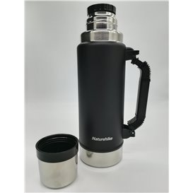 Naturehike Vakuum Thermoskanne Isolierflasche mit Becher 1250ml black