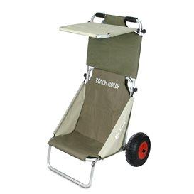 Eckla Beach-Rolly mit Sonnendach Transportwagen Sitzwagen olivgrün