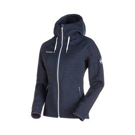 Mammut Arctic ML Hooded Jacket Damen Fleecejacke marine melange hier im Mammut-Shop günstig online bestellen
