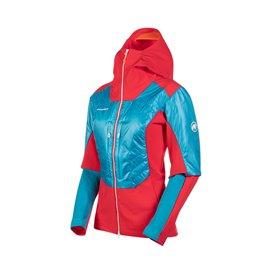 Mammut Eiger Extreme Eisfeld Hybrid Hooded Jacket Damen Softshelljacke azalea-sky
