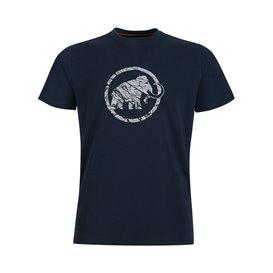 Mammut Logo T-Shirt Herren Kurzarmshirt marine