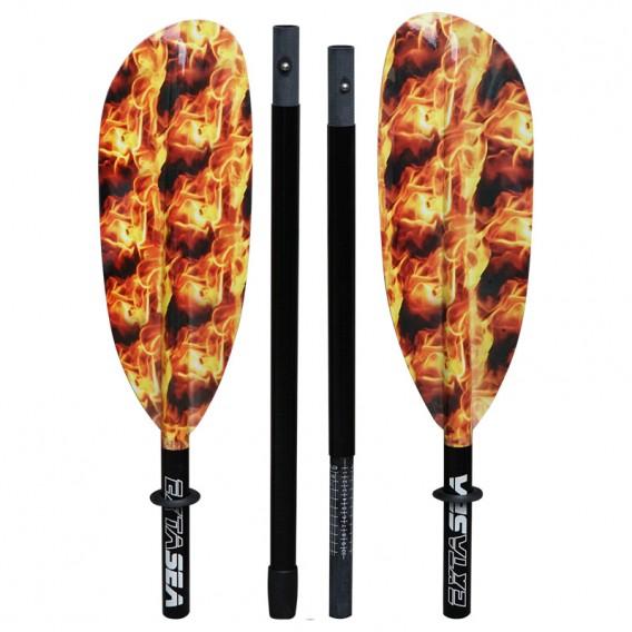 ExtaSea Fire Vario Fiberglas Doppelpaddel Kajak Paddel 4-teilig hier im ExtaSea-Shop günstig online bestellen
