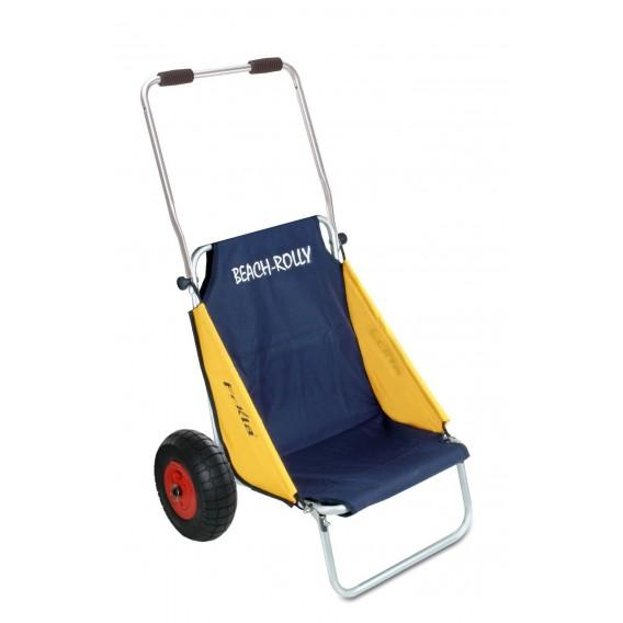 Eckla Beach-Rolly Classic Transportwagen und Campingstuhl blau-gelb hier im Eckla-Shop günstig online bestellen