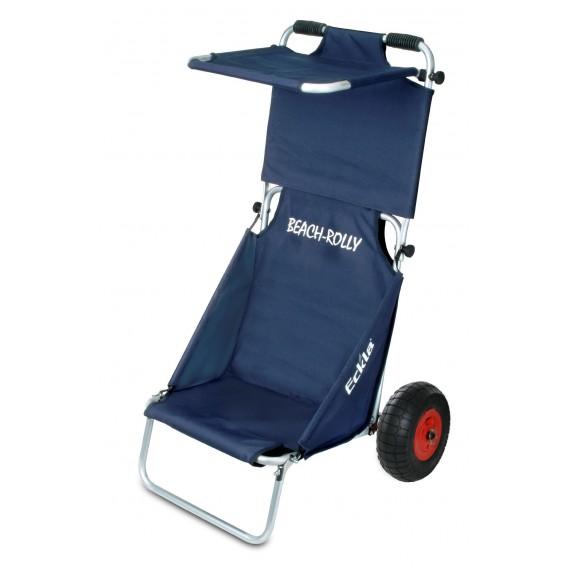 Eckla Beach-Rolly mit Sonnendach Transportwagen Sitzwagen uni blau hier im Eckla-Shop günstig online bestellen