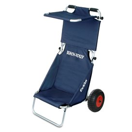 Eckla Beach-Rolly mit Sonnendach Transportwagen Sitzwagen uni blau
