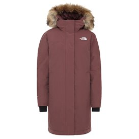 The North Face Arctic Parka Damen Daunenparka Wintermantel marron purple