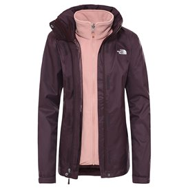 The North Face Evolve II Triclimate Jacket Damen Doppeljacke Winterjacke root brown-pink clay