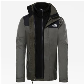 The North Face Evolve II Triclimate Jacket Herren Doppeljacke Winterjacke new taupe green-black