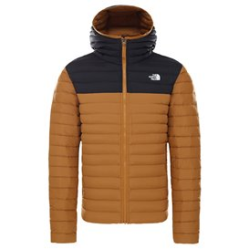 The North Face Stretch Down Hoodie Herren Daunenjacke Winterjacke timber tan-black