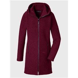 Mufflon Rika Damen Wollmantel Wintermantel berry