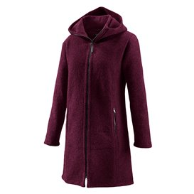 Mufflon Jana Damen Merino Mantel berry