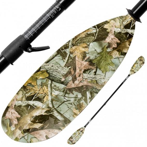 ExtaSea Hunter Vario Fiberglas Doppelpaddel Kajak Paddel 2-teilig camouflage hier im ExtaSea-Shop günstig online bestellen
