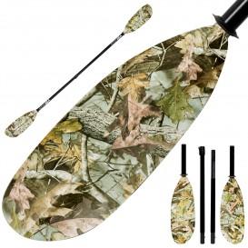 ExtaSea Hunter Vario Fiberglas Doppelpaddel Kajak GFK Paddel 4-teilig camouflage