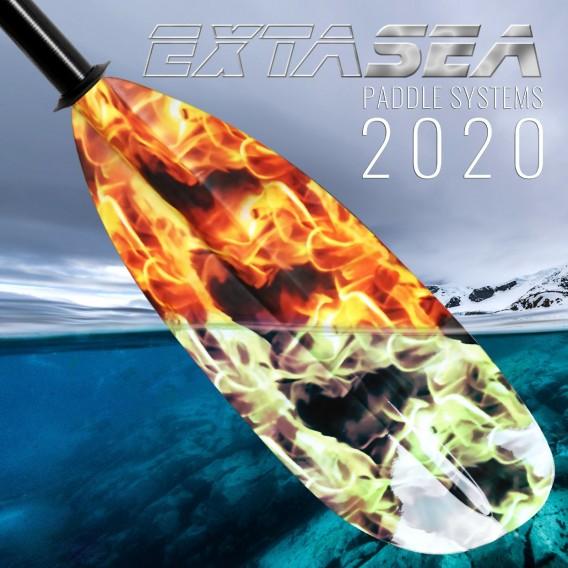 ExtaSea Fire Vario Fiberglas Doppelpaddel Kajak Paddel 2-teilig hier im ExtaSea-Shop günstig online bestellen