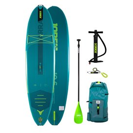 Jobe Yarra 10.6 aufblasbares Stand up Paddle Board SUP Set teal