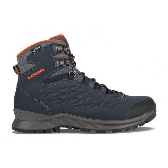 Lowa Explorer GTX MID Herren Trekkingschuhe Wanderschuhe navy-orange hier im Lowa-Shop günstig online bestellen