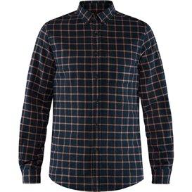 Fjällräven Övik Flannel Shirt Herren Outdoorhemd Freizeithemd dark navy