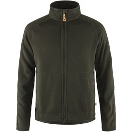 Fjällräven Övik Fleece Zip Sweater Herren Fleecejacke deep forest