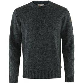 Fjällräven Övik Round-Neck Sweater Herren Pullover dark grey hier im Fjällräven-Shop günstig online bestellen