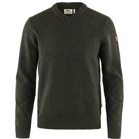 Fjällräven Övik V-Neck Sweater Herren Pullover dark olive hier im Fjällräven-Shop günstig online bestellen