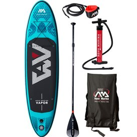 Aqua Marina Vapor 9.1 TESTBOARD komplett Set aufblasbares Stand Up Paddle Board SUP