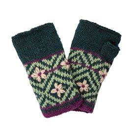 Sherpa Nitya Handwarmer Handschuhe rathna green print