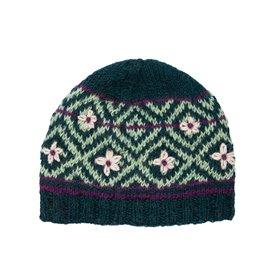 Sherpa Nitya Hat Mütze Strickmütze rathna green print hier im Sherpa-Shop günstig online bestellen