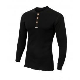 Aclima Warmwool Granddad Shirt Herren Merino Hemd black