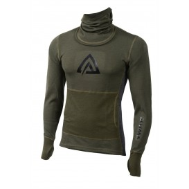 Aclima Warmwool Hood Sweater MAN Herren Longsleeve Olive Marengo
