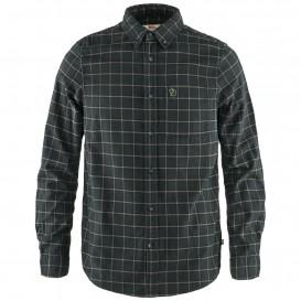 Fjällräven Övik Flannel Shirt Herren Hemd langarm dark grey hier im Fjällräven-Shop günstig online bestellen