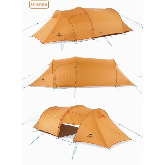 Naturehike Opalus 3 PU Tunnelzelt 3 Personen Zelt orange hier im Naturehike-Shop günstig online bestellen