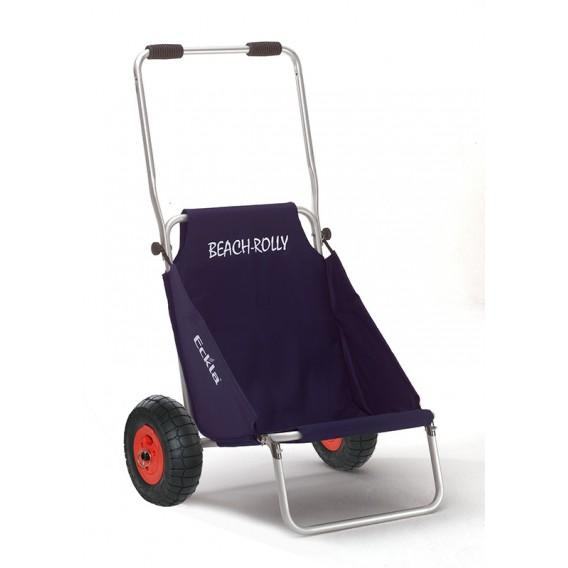 Eckla Beach-Rolly Classic pannensicherer Transportwagen und Campingstuhl blau uni hier im Eckla-Shop günstig online bestellen