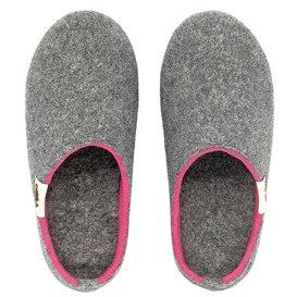 Gumbies Outback Slipper Damen Hausschuhe Hüttenschuhe grey-pink