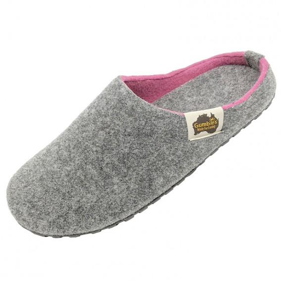 Gumbies Outback Slipper Damen Hausschuhe Hüttenschuhe grey-pink hier im Gumbies-Shop günstig online bestellen