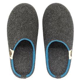 Gumbies Outback Slipper Damen Hausschuhe Hüttenschuhe charcoal-turquoise