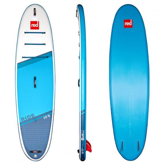 Red Paddle Ride 10'6 MSL SUP aufblasbares Stand up Paddle Board hier im Red Paddle-Shop günstig online bestellen