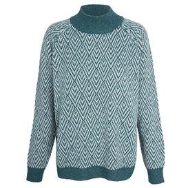 Sherpa Hasri Pullover Sweater Damen Pullover Rollkragenpullover rathna green