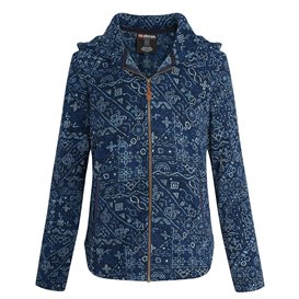 Sherpa Namla Hooded Jacket Il Damen Fleecejacke neelo blue