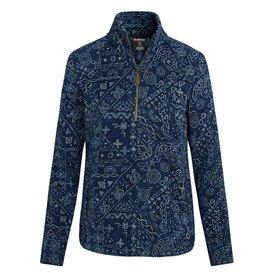 Sherpa Namla Zip Tee II Damen Pullover neelo blue
