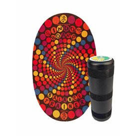 Indoboard Original Rabbit Hole Balancetrainer inkl. Rolle und DVD orange-purple