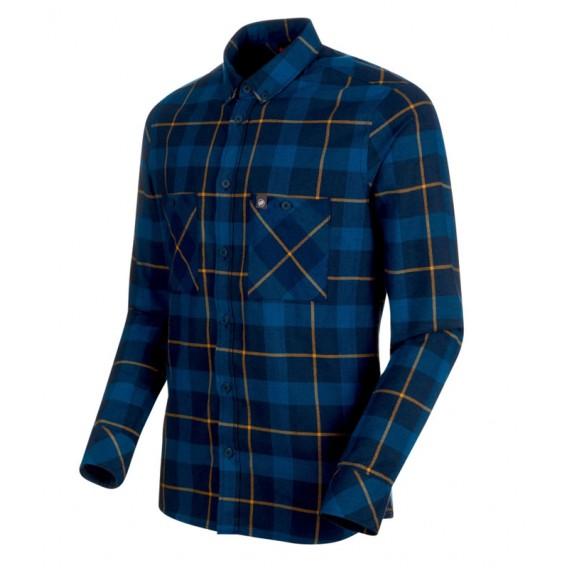 Mammut Alvra Longsleeve Shirt Herren Sweatshirt Langarmshirt wing teal-sapphire hier im Mammut-Shop günstig online bestellen