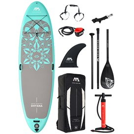 Aqua Marina Dhyana 11.0 Yoga SUP aufblasbares Stand Up Paddle Board Set