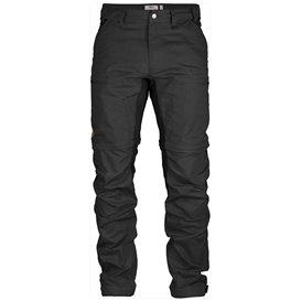 Fjällräven Abisko Lite Trekking Zip-Off Regular Herren Wanderhose dark grey-black