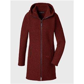Mufflon Rika Damen Wollmantel Merinomantel rosso hier im Mufflon-Shop günstig online bestellen