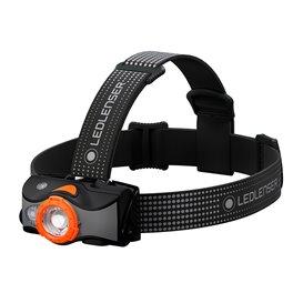 Ledlenser MH7 Helmlampe Stirnlampe 600 Lumen schwarz-orange