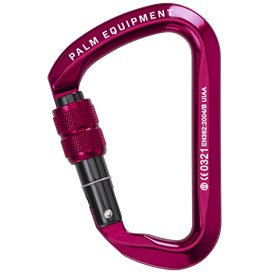 Palm Screw Gate Karabiner Paddelkarabiner red