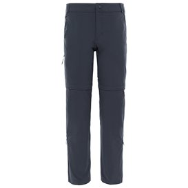 The North Face Exploration Convertible Pant Damen Zip-Off Wanderhose asphalt grey