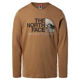 The North Face Image Ideals Tee Herren Sweatshirt Langarmshirt utility brown